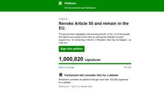 Brexit petition