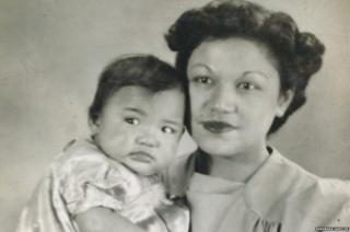 Barabara with her mother