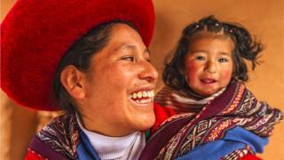 Madre e hija peruanas.