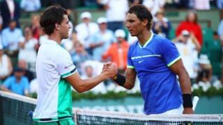 نادال که تاکنون چهارده بار قهرمان گرنداسلم تنیس شده