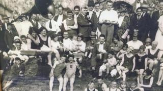 Members of Henleaze Swimming Club in the 1920s