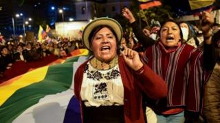 Indigenous women protest in Ecuador