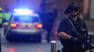 Counter terrorism police officer
