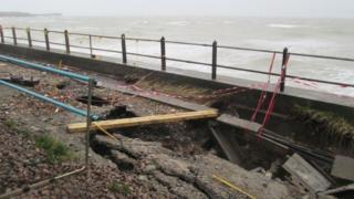 Trackside damage at Dover