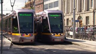 Dublin's public tram system, known as the Luas, was launched in 2004