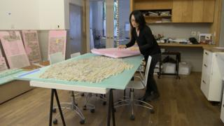 Jean Shin, a member of artists pension trust working on her latest piece