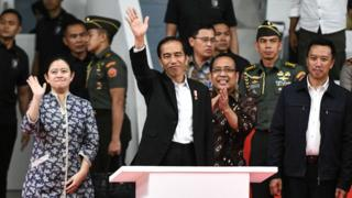 Presiden Joko Widodo meresmikan geudng Istora Senayan, 28 Januari 2018.