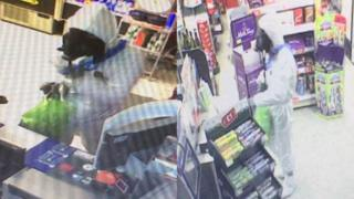 CCTV images of robbery