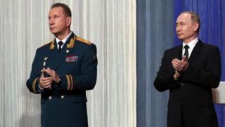 Viktor Zolotov and Vladimir Putin