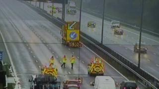 M1 closed after fatal crash