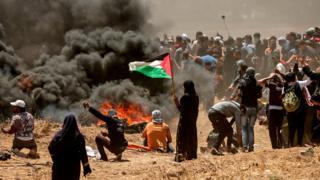 Gazze'de protestolar