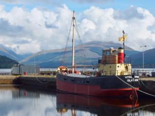 """The Vital Spark"" at the dock in Inveraray"