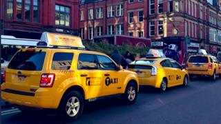 yellow taxi cabs