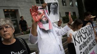 جمال خاشوقجی کی موت کے خلاف مظاہرہ
