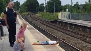 Incident at Trowbridge railway station on Saturday afternoon