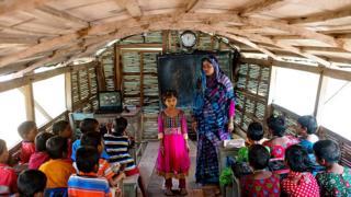 Schoolkids in Bangladesh