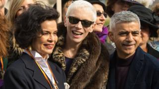 Bianca Jagger, Annie Lennox and Mayor of London Sadiq Khan