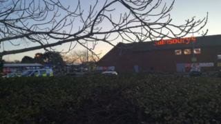 Police at Sainsbury's in Christchurch