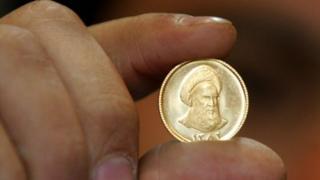 عملة ذهبية إيرانية