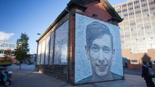 Josez Clark's image on building