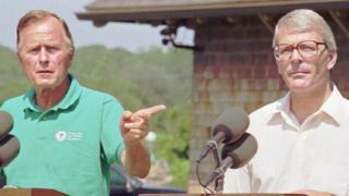 President George H.W.Bush and John Major in 1991