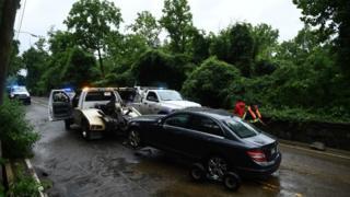 Покинутий автомобіль у Вашингтоні