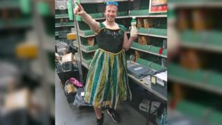 Glen Walton dressed as Princess Anna of Arendelle
