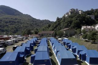 Arquata del Tronto tented camp, 28 Aug 16