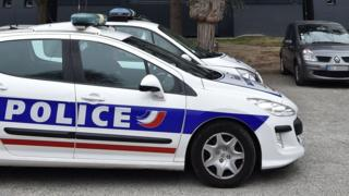 A police car parked in parked in Toulouse on 5 December 2017