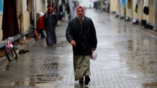 Kilis'teki Elbeyli kampında kalan Suriyeli bir sığınmacı