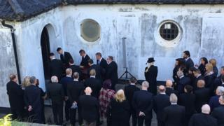 Enzo Calzaghe's funeral