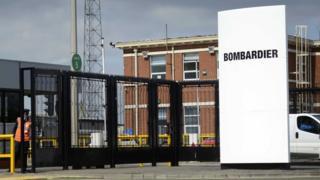 Bombardier site gate