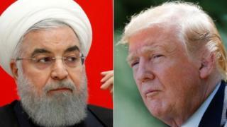 Ubushyamirane bwariyongereye ku butegetsi bwa Perezida Hassan Rouhani wa Irani na Donald Trump w'Amerika