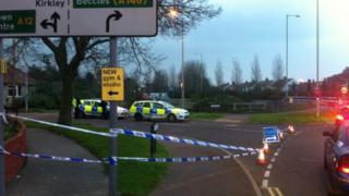 Police at Kirkley Run, Lowestoft