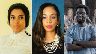 Una composición de Marifa Witte, Ndidi Nwuneli y Papa Omotayo
