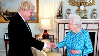 Boris Johnson meets the Queen