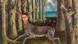 """Картина Фриды Кало """"Раненый олень"""""""
