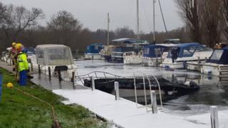 Boat explosion near Norwich