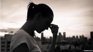 Teenage girl silhouette
