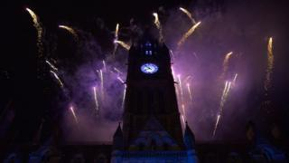 Fireworks display Manchester