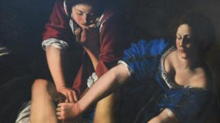 Part of Artemisia Gentileschi's painting Judith Slaying Holofernes.
