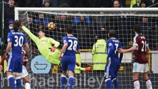 Chelsea yatoka sare ya 1-1 na Burnley
