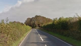 the incident happened on the stretch of road between Pentre Meyrick Cross and Llysworney