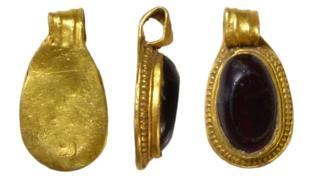 The 7th Century pendant which was discovered near Diss