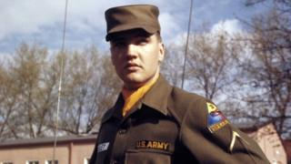 coronavirus stock US Army Private First Class Elvis Presley at Grafenwoehr Training Grounds, Bavaria in 1958