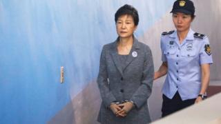 Park Geun-hye in custody in Seoul, 25 August 2017