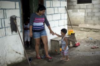 Sirly with her nephew Yeremi
