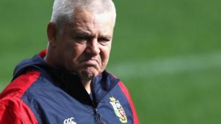 Warren Gatland coaching the British and Irish Lions in New Zealand
