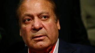 Ousted Prime Minister of Pakistan, Nawaz Sharif, speaks during a news conference at a hotel in London, Britain on 11 July 2018.
