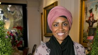 The Great British Bake Off winner for 2015 Nadiya Hussain